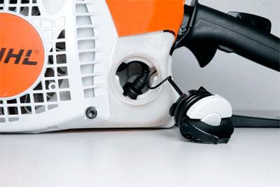 Легкосъемная крышка топливного бака бензопилы штиль 250